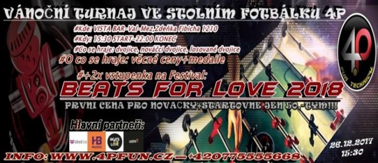 Vánoční Cup-Valašské Meziříčí-Nováčci 1.místo vyhrají lístky na Beats for Love 2018